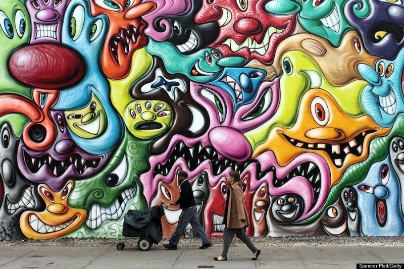 Kenny Scharf  Bowery Mural 2010