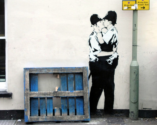 ©Banksy - Brighton 2005