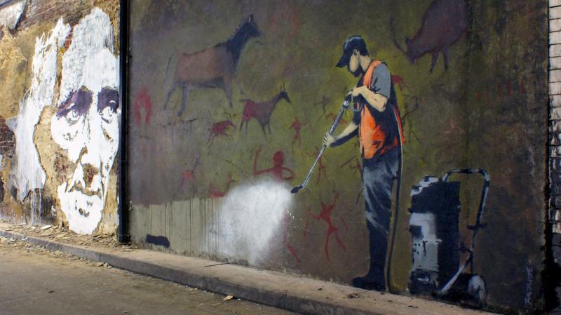 Vhils x Banksy // Cans Festival