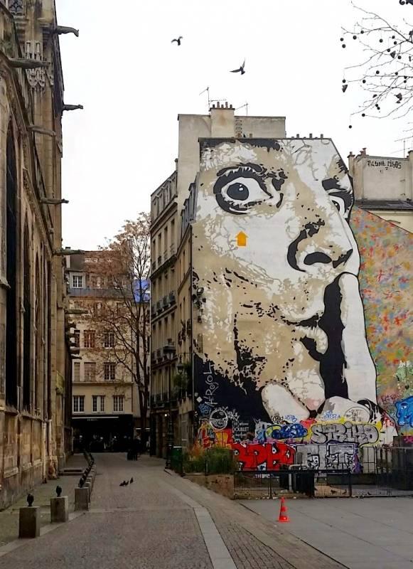 """Jef Aérosol """"Chuuuttt!!! """" - Beaubourg, Paris 2011"""