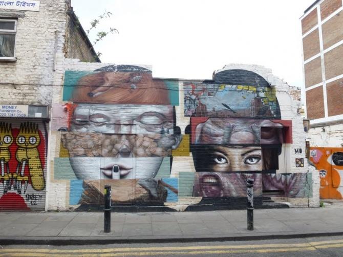Liliwenn x Bom-k - Hanbury Street - Londres