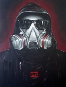"""Darth Sprayer"", MTO - Sarasota Chalk Festival 2011"