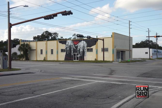 """Fast Life"", MTO, Sarasota Chalk Festival, 2011 - vue d'ensemble"