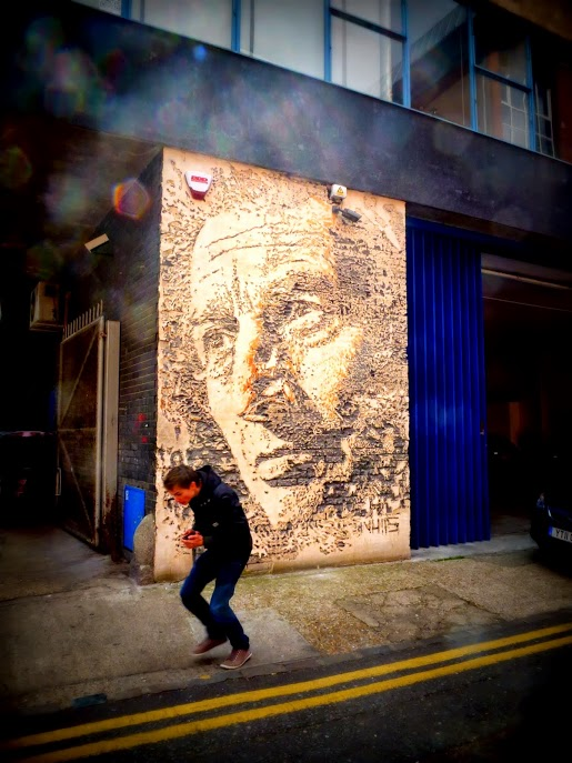 Vhils dans Shoreditch, Londres 2012