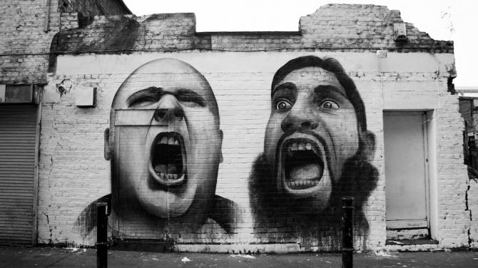 Ancien mur de Ben Slow, Hanbury Street, London, 2012