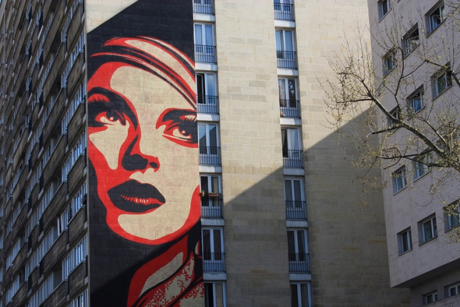 shepard fairey rise above rebel paris 13 me. Black Bedroom Furniture Sets. Home Design Ideas