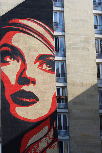 "Shoreditch Art: Shepard Fairey ""Rise Above Rebel"""