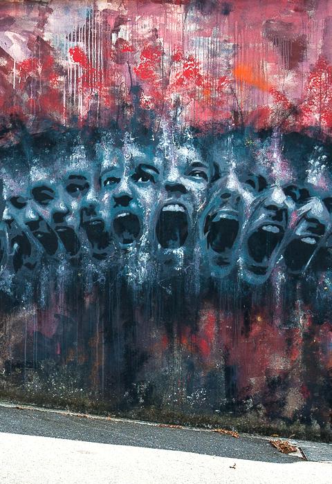 antoine stevens - street art - crimes of minds - brest
