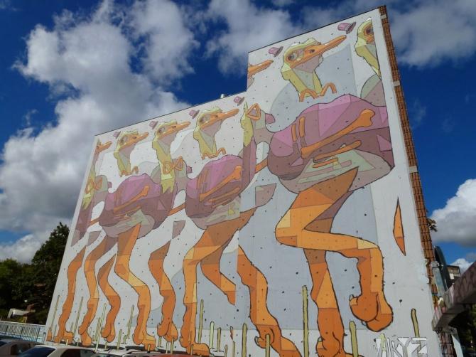 Autruches d'Aryz - Street Art - Rennes