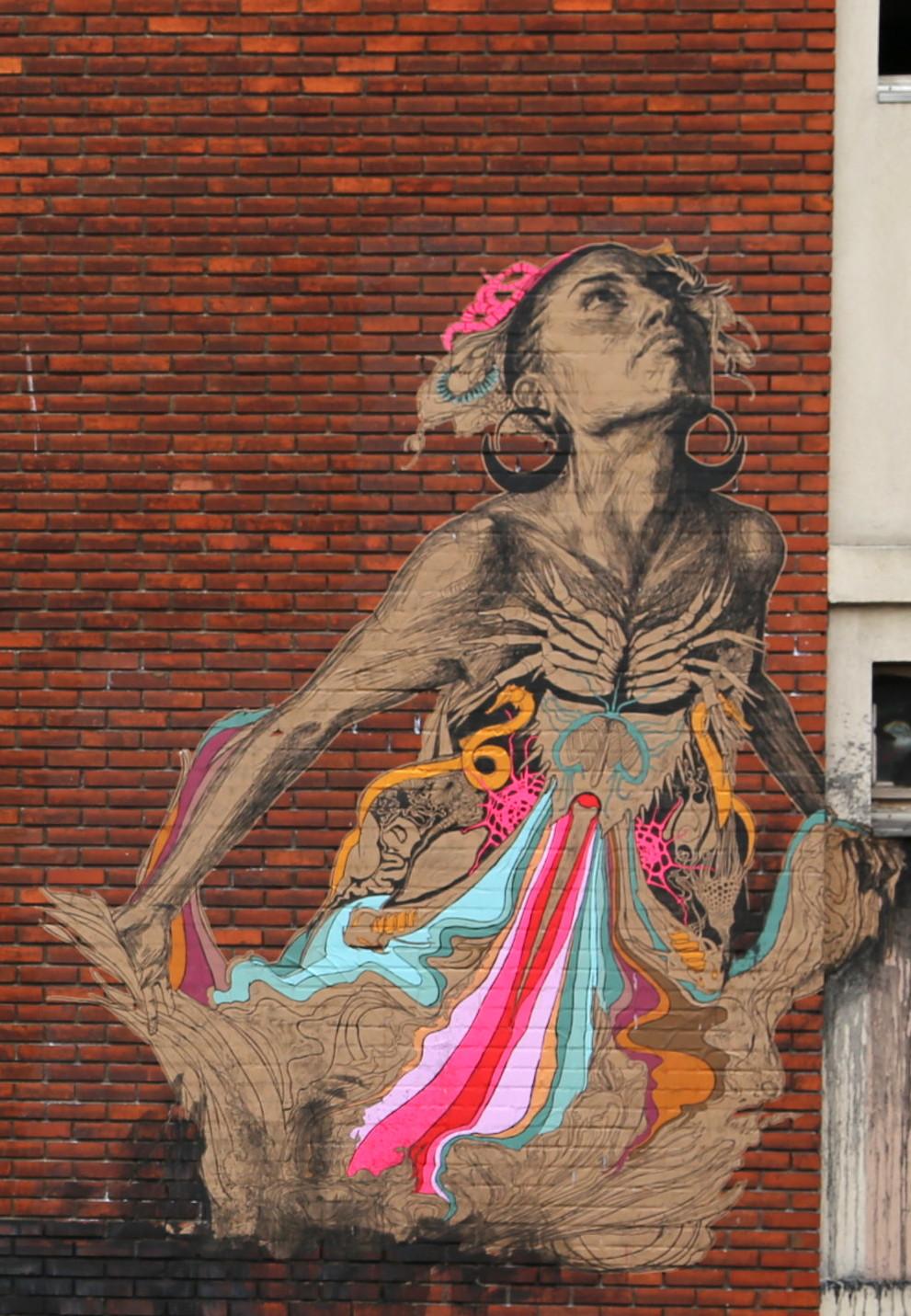 Shoreditch Art: SWOON à La Tour Paris 13