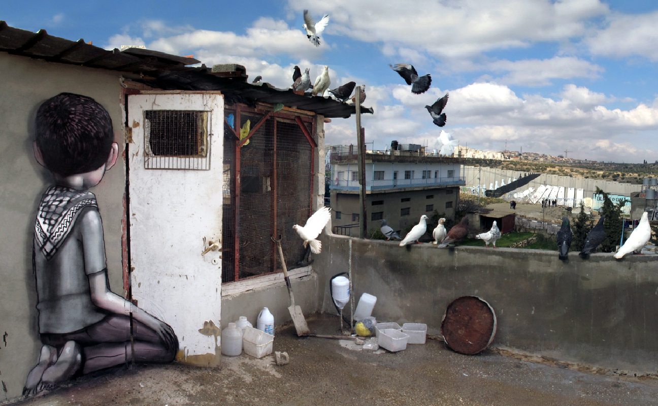 seth - julien malland - palestine - globe painter