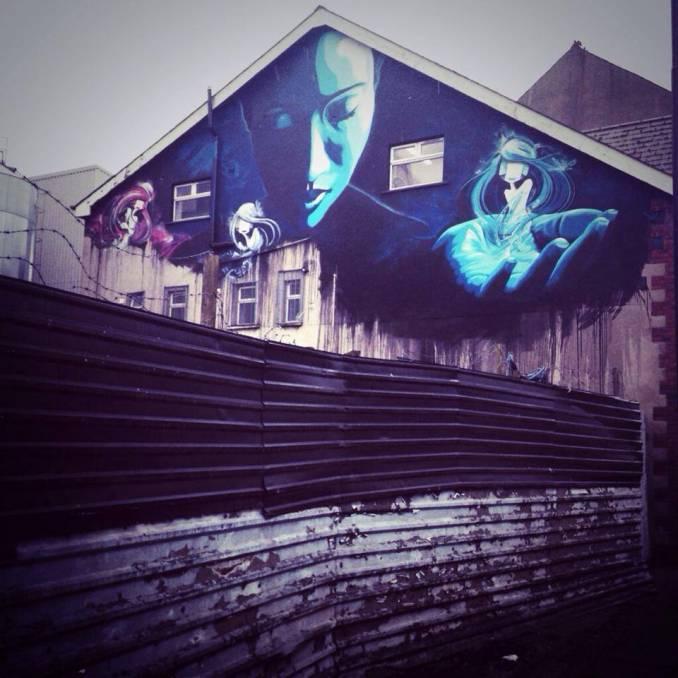 DMC x JMK // Illuminate Belfast - Street Art