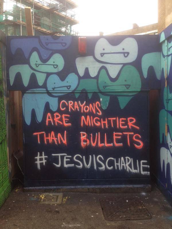 Pure Evil - Street Art- Je Suis Charlie