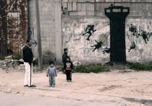 banksy - street art - graffiti - gaza - palestine