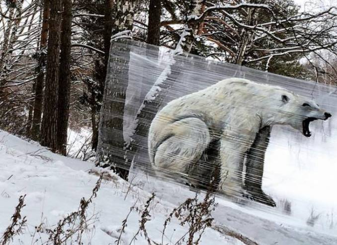 Bear cellograffiti // Ches - street-art