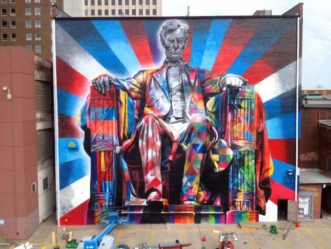 "Eduardo Kobra ""Lincoln"" - Lexington, Kentucky"
