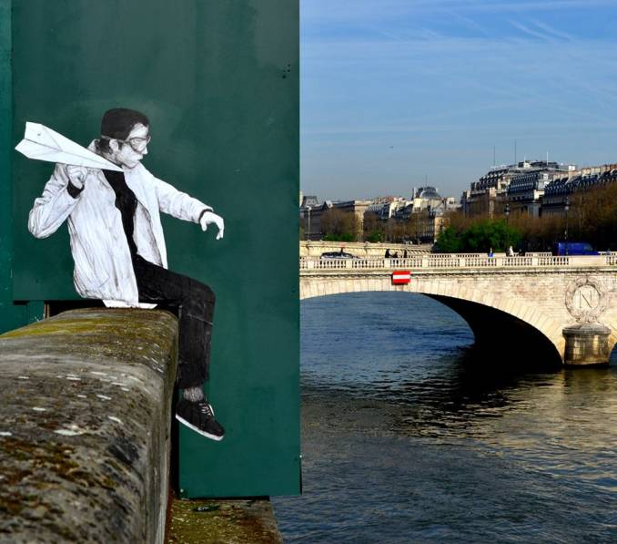 "Levalet - ""Crash Test"" - Street Art Paris"