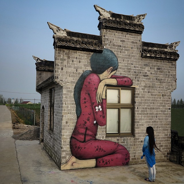 "Julien ""SETH"" Malland - street art - Fegjing - China"