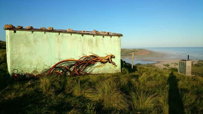"Sonny - ""Transkei Cheetah"" - street art, Afrique du Sud"