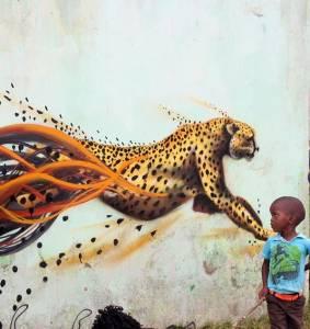 "Sonny - ""Transkei Cheetah"" - street art"
