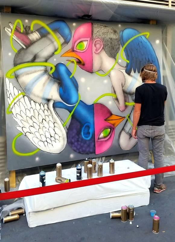 "Julien ""SETH"" Malland, Hôtel Drouot // photo mai 2015 @vidos - street-art-avenue"