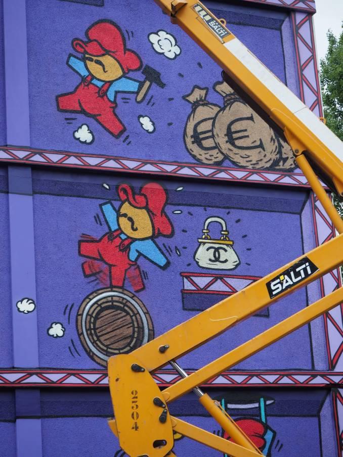 "JACE, ""Donkey Kong"" Paris 13 // photo juillet 2015 @ vidos - street-art-avenue"