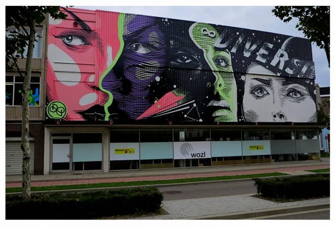 """""""Diversiteit"""" - Heerlen Murals // sept 2015 © Dourone"""