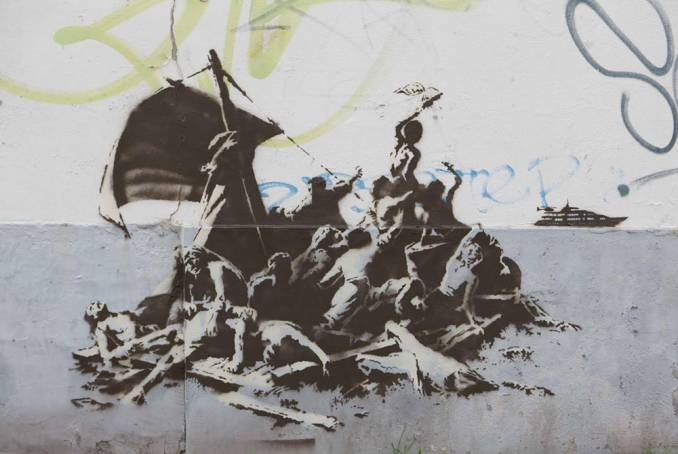 We're not all in the same boat // Calais - dec 2015 © Banksy
