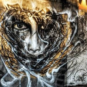 L7m - portrait - street art - abstrait - barcelone