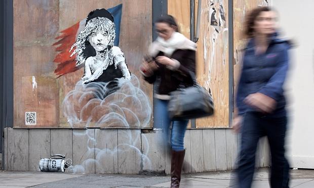 Banksy, Londres // photo 2016 © Christian Sinibaldi (The Guardian)