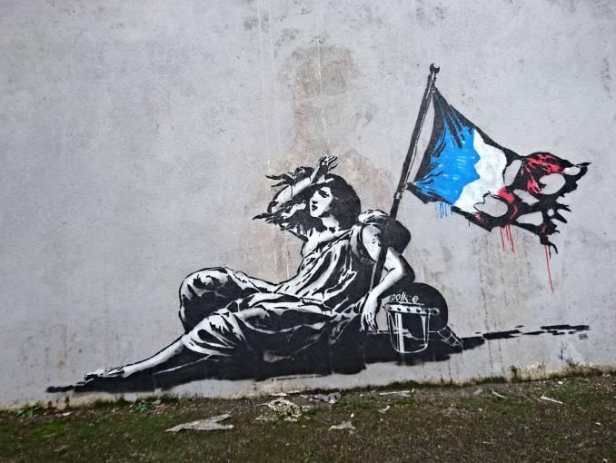 """""""Liberty down"""", Goin - Lyon // 2016 © Christopher (street-art-lyon.com)"""