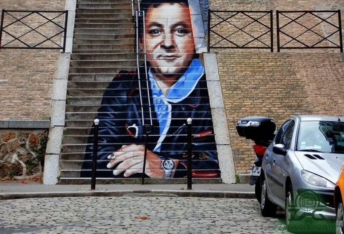 coluche - street art - zag et sia - paris