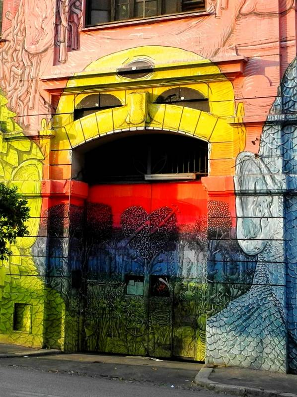 blu - stret art - ostiense - rome