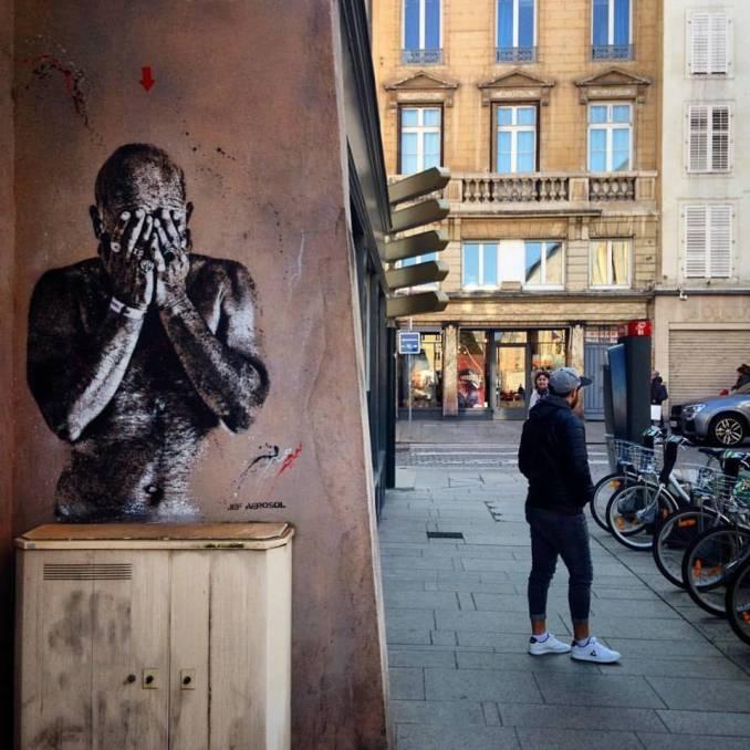 Arthy Mad - Jef Aérosol - pochoir - street art - nancy