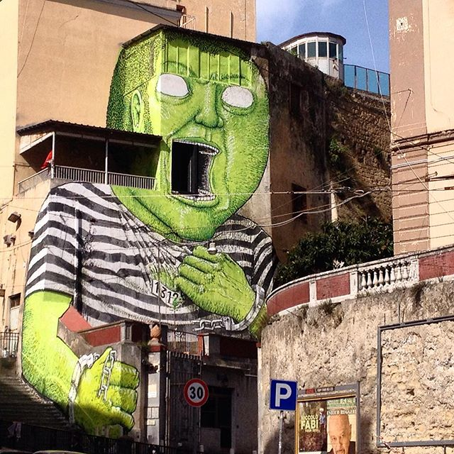 blu - street art - naples - OPG - loisdesign