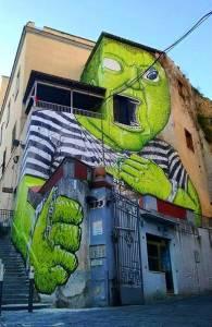 blu - street art - naples - OPG - napolistreetart