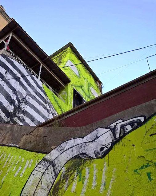 blu - street art - naples - OPG - ziguline