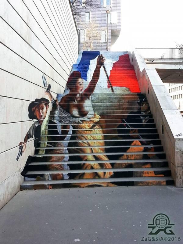 « La Liberté guidant le peuple », Zag & Sia, Paris 13 // photo © Zag & Sia