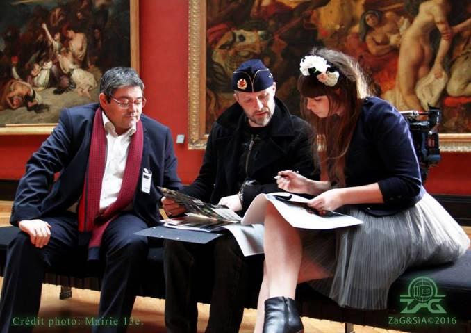 Jérôme Coumet, Zag et Sia - Le Louvre // photo © Mairie 13