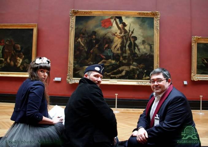 Sia, Zag et Jérôme Coumet - Le Louvre // photo © Mairie 13