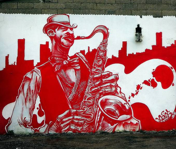 aries - jazzman - street art - vannes