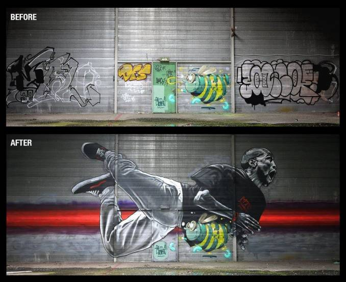 mto - street art - save the bee - strasbourg