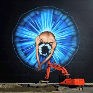 Owen Dippie - street art - ballerine - christchurch