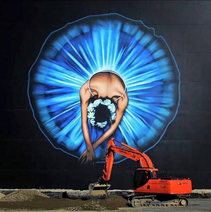 Owen Dippie - street art - ballerine - christchurch