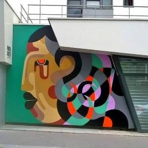 reka one - street art - mirage - galerie mathgoth - paris