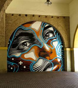 dourone - street art - one urban world - carthagène