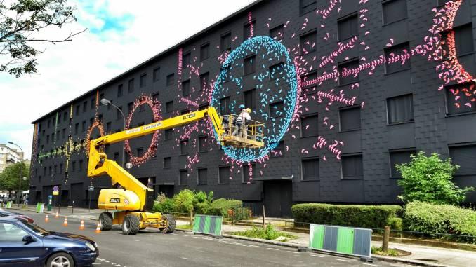 mademoiselle maurice - street art - cycles lunaires - paris