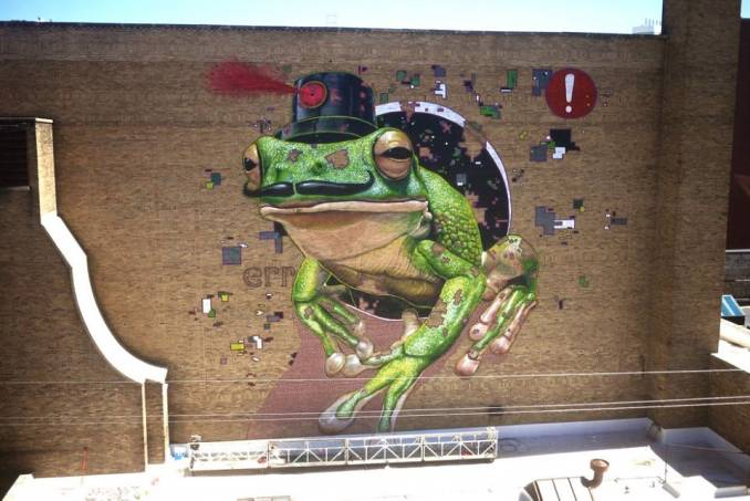 mto - street art - frog - milwaukee