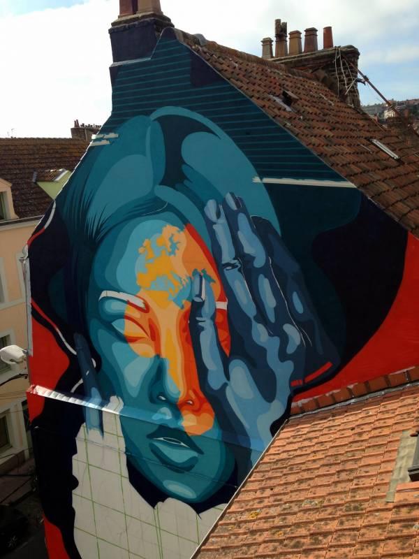 dourone - street art - reflexion - boulogne-sur-mer
