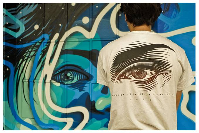 dourone - colorama - synchronisation - street art - biarritz